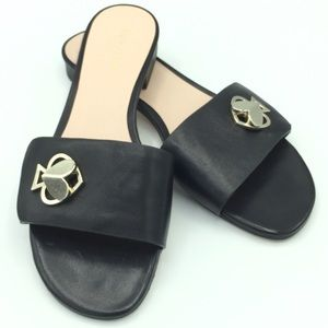 "NWOB Kate Spade ""Ferry"" Dressy Black Slide Sandals"